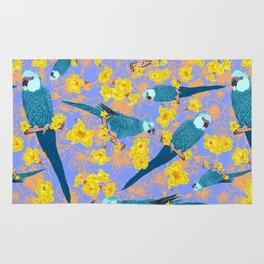 Spix Macaw Flower Power Rug