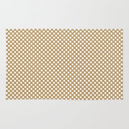 Pale Gold and White Polka Dots Rug