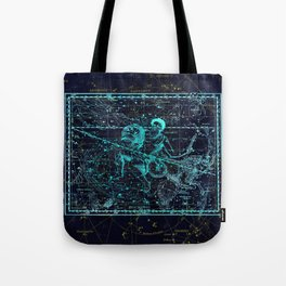 Aquarius, Constellation map, Zodiac, Sign sky, Stars, Universe, astrology, astrological Tote Bag