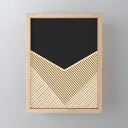 Geometric in line Framed Mini Art Print