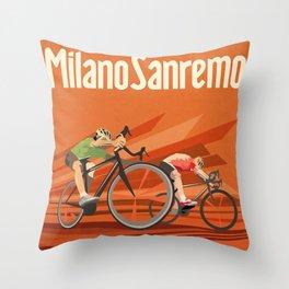 Milan San Remo cycling classic Throw Pillow