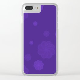 Purple prints Clear iPhone Case