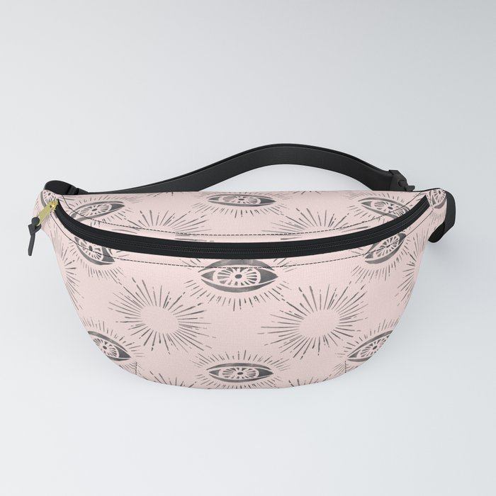 Sun and Eye of wisdom pattern - Pink & Black - Mix & Match with Simplicity of Life Fanny Pack