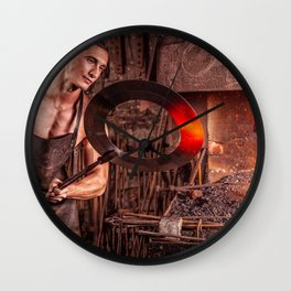 Sexy Blacksmith Wall Clock