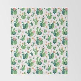 Cactus pattern II Throw Blanket