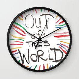 Quoteables #3 - Out of this World Wall Clock