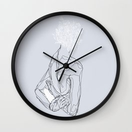 Floral Minded Wall Clock