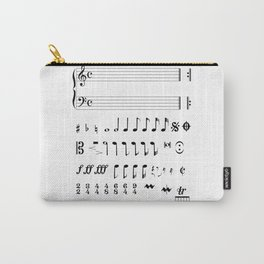 Musical Notation Carry-All Pouch