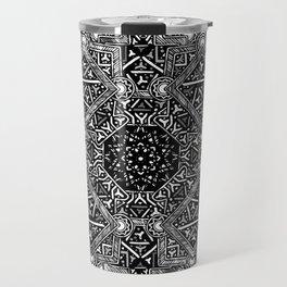 mandala mystery bw Travel Mug