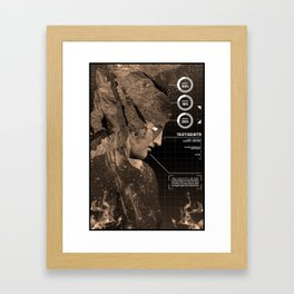 Hellish Blueprint Framed Art Print