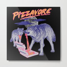 Pizzavore Metal Print