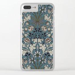"William Morris ""Hyacinth"" 3. Clear iPhone Case"