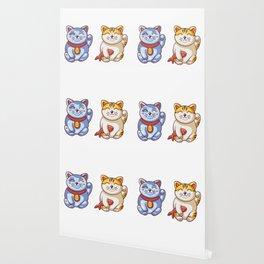 Lucky Cats Wallpaper