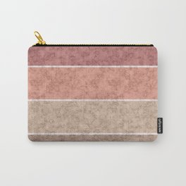 Pink and gray marble striped pattern . Carry-All Pouch