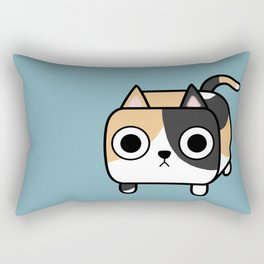 Cat Loaf - Calico Kitty Rectangular Pillow