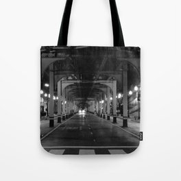Chicago in the head lights Tote Bag