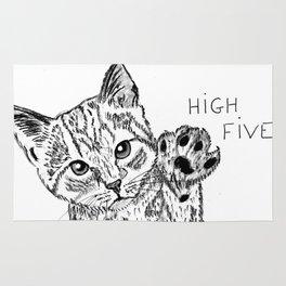 Kitten high five Rug