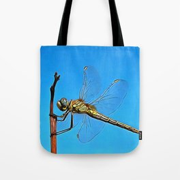 Hang On In There Artistic Dragonfly Tote Bag