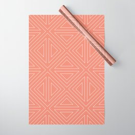 Angled Rose Wrapping Paper