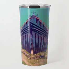 Surfing The Big Wave Searching Mermaids Travel Mug