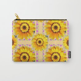 CREAM COLOR WESTERN STYLE YELLOW SUNFLOWERS Carry-All Pouch