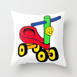 Timmy The Tricycle Throw Pillow