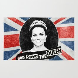 God Save The Queen - Kate Middleton Rug