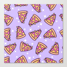 Pizza Magic // Purple Canvas Print