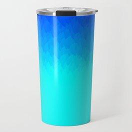 Blue ombre flames Travel Mug