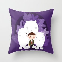 © Heróis sem capa Throw Pillow