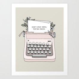 Don't Stop Art Print