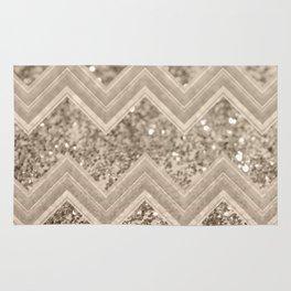 Sepia Glitter Chevron #1 #shiny #decor #art #society6 Rug
