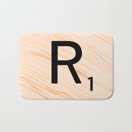 Scrabble Letter R - Large Scrabble Tiles Bath Mat