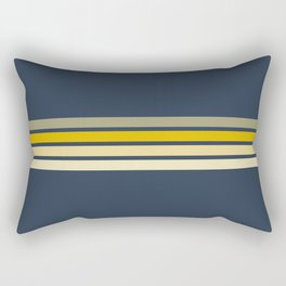 Racing Retro Stripes Rectangular Pillow