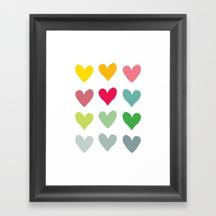 Heart pattern art  Framed Art Print