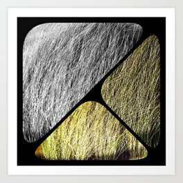 Grass triangles Art Print