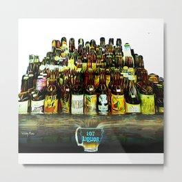 107 Liquor Metal Print