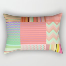 Stripes and chevron mixed color fantasy Rectangular Pillow