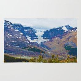 Athabasca Glacier in Jasper National Park, Canada Rug