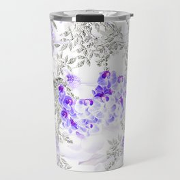 ORCHIDS PURPLE VINES AND CHERRY BLOSSOMS Travel Mug