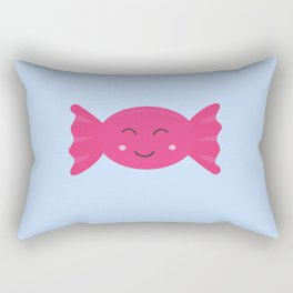 Pink candy bonbon with smile Rectangular Pillow