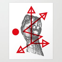 DKMU - Resistance against consensual reality Art Print