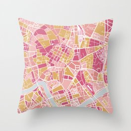 Cracow map Throw Pillow