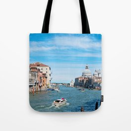 View from the bridge in Venice Tote Bag