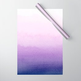 Purple Watercolor Design Wrapping Paper