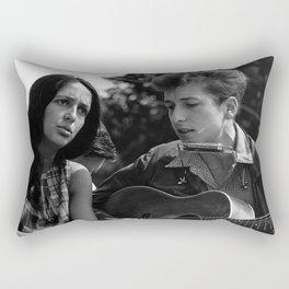 Bob Dylan and Joan Baez at the March on Washington, 1963 Rectangular Pillow