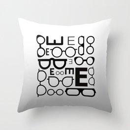 Eye Chart eyeglasses gray glasses Throw Pillow