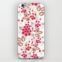 Red flowers . iPhone Skin