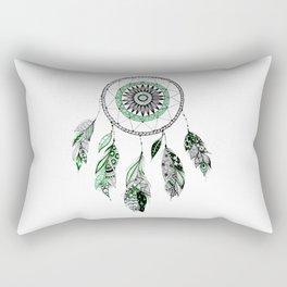 Green dreamcathcer Rectangular Pillow