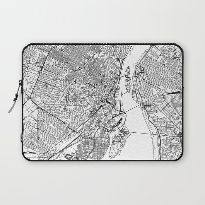 Montreal White Map Laptop Sleeve